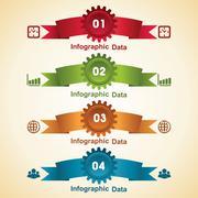 Stock Illustration of Illustration of creative gears Info-graphics options banner