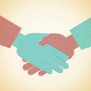 Illustration of businessman handshake background Stock Illustration