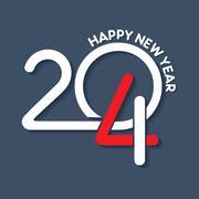 creative happy new year 2014 design stock vector - stock illustration