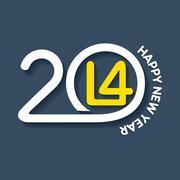 Creative happy new year 2014 design stock vector Stock Illustration