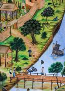 Stock Photo of Thai mural painting art