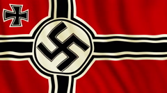 Nazi flag Stock Footage