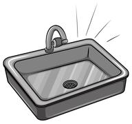 A kitchen sink - stock illustration