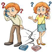 People communicating - stock illustration