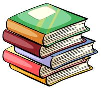 A pile of books - stock illustration