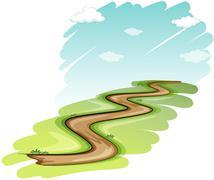 A pathway - stock illustration