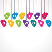 Social network concept - vector illustration Stock Illustration