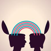 Exchanging thoughts with each other stock vector Stock Illustration