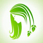 Eco icon with women face stock vector Piirros