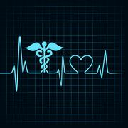 Heartbeat make medical and heart symbol stock vector Stock Illustration