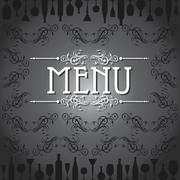 Template for menu card with cutlery stock vector Stock Illustration