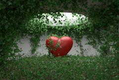 Heart ivy room Stock Illustration