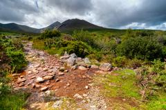 Mountain Stream in Ring of Kerry - stock photo