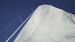 Looking up at sail of boat. Shot on RED EPIC for high quality 4K, UHD, Ultra HD - stock footage