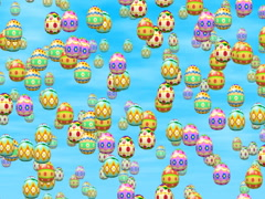 Falling eggs seamless loop video, 640x480 - stock footage