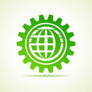 Global shape design in gear concept vector Stock Illustration
