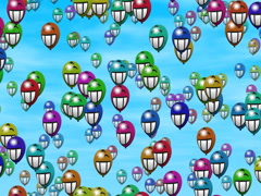 Party balloons generated seamless loop video, 640x480 Stock Footage
