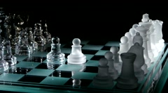 4K. Moving pieces on the chessboard Stock Footage