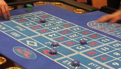 Casino roulette table Stock Footage