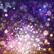 Stock Illustration of Glittery beautiful bokeh background