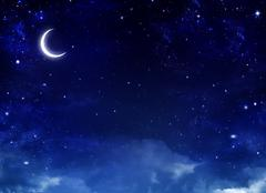 Nightly sky - stock illustration