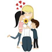 Lovin' mommy collection - stock illustration