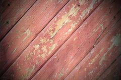 Reddish wood planks texture with vignette Stock Photos