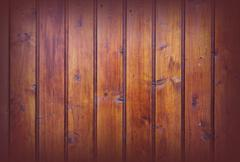 textured wood boards with vignette, spruce planks on the wall - stock photo