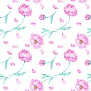 Spring watercolor wallpaper Stock Illustration