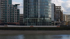 Tilt up and down St George Wharf Tower also known as the Vauxhall Tower. Stock Footage