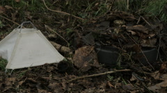WW2 german Teller mine with allies mine marker next to it Stock Footage
