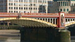 Vauxhall Bridge London 4K CU of sign Stock Footage