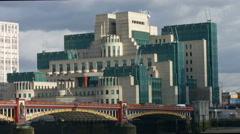 Vauxhall Bridge London 4K static Stock Footage