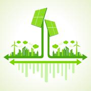 Ecology concept solar panel illustration Stock Illustration