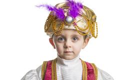 Sultan child on white. - stock photo