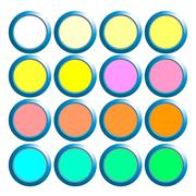 Blank Web Buttons for Website or App - stock illustration