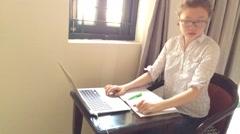 Online school - stock footage