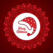 creative greeting card for christmas - stock illustration