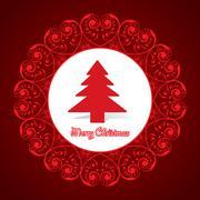 Creative greeting card for christmas Stock Illustration