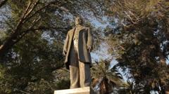 Benito Juarez Statue Stock Footage