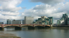 Vauxhall Bridge London 4K WS Stock Footage