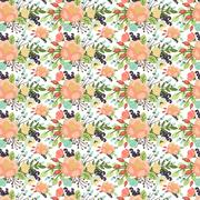 Elegant seamless pattern with flowers Stock Illustration