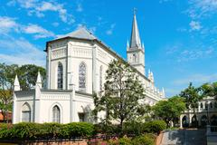 Old church building in neoclassical style Stock Photos