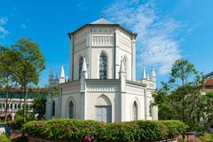 Old church building in neoclassical style - stock photo