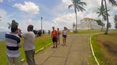 Mont Serrat Fortress in Salvador, Bahia, Brazil Stock Footage