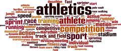 Athletics word cloud Stock Illustration