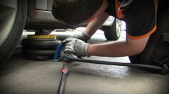 London UK, January 2015: Car sales warehouse and repair service Stock Footage