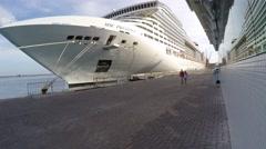 Cruise Terminal of Salvador, Bahia Stock Footage
