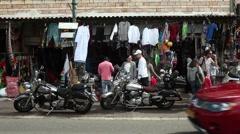 Main street of Daliyat Al-Karmel Stock Footage