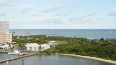 US Coast Guard station Stock Footage